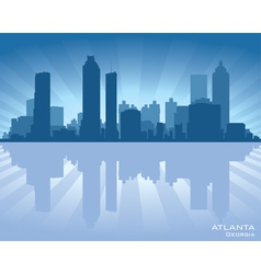 Atlanta georgia skyline vector