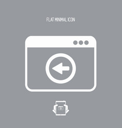 Back button - flat minimal icon vector