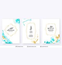 Beauty spa care salon cosmetologist logo design vector