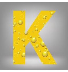 beer letter K vector image