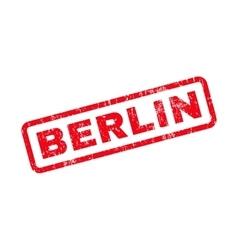Berlin Text Rubber Stamp vector