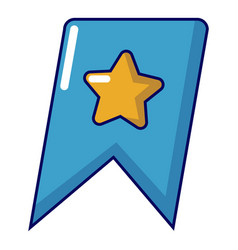 bookmark browser icon cartoon style vector image
