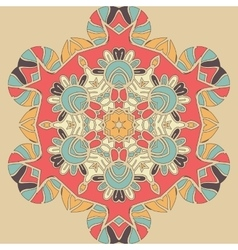 Bright coloured seamless mandala Pink orange and vector
