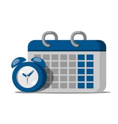 Calendar clock icon calendar clock sign vector
