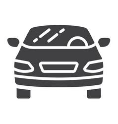 car glyph icon transport and automobile sedan vector image