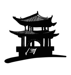 chinese national pagoda vector image