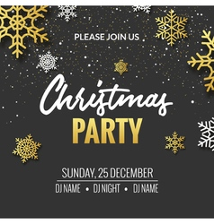 Christmas party invitation poster design Retro vector image