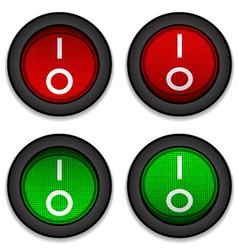 circle toggle power switches vector image