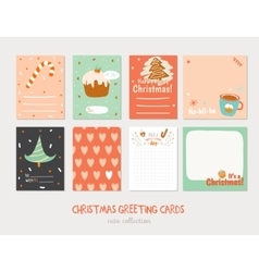 Collection of Cute Journaling Cards vector