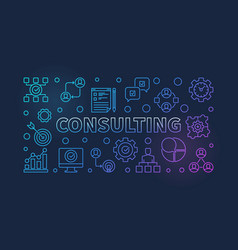 Consulting colorful outline vector