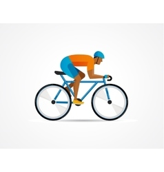 Cyclist riding on bicycle vector