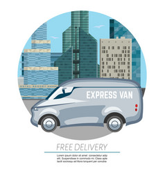 delivery van car - fast and free vector image