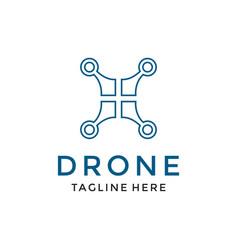 Drone logo design icon template modern design vector