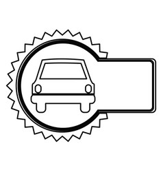 Emblem car front icon vector