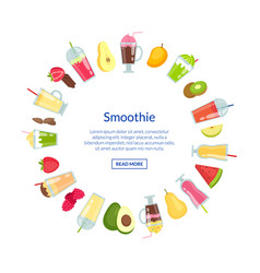 flat smoothie in with place for text vector image