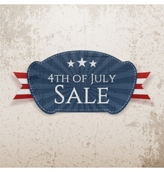 Fourth july sale emblem vector