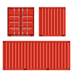 Freight shipping cargo containers vector image