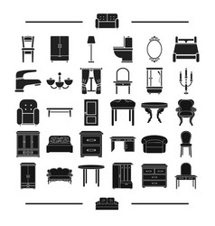 Glass textiles plumbing and other web icon in vector