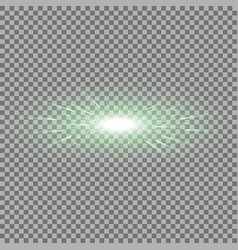 glowing light with flying comets green color vector image
