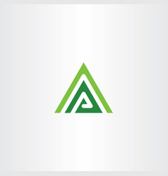 green a letter triangle mountain vector image
