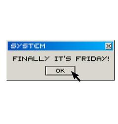 Happy friday message vector