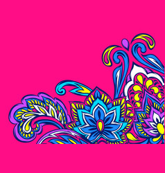 indian ethnic background pattern vector image