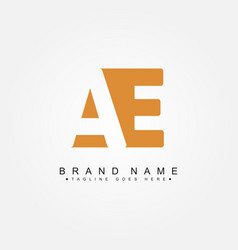 Initial letter ae logo - simple business logo vector
