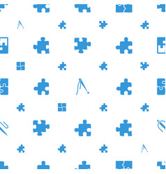 join icons pattern seamless white background vector image