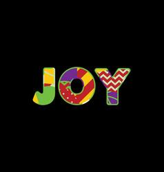 joy concept word art vector image