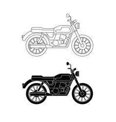 line classic bike vector image