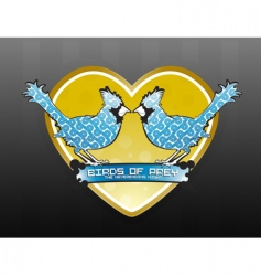 love birds of prey logo vector image