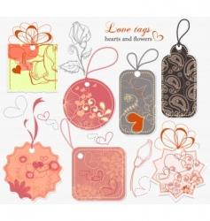 Love tags vector