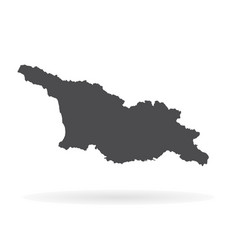 map georgia isolated black vector image