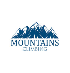 Mountain climbing sport icon vector