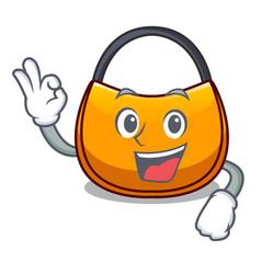 Okay beautifully hobo bag on character funny vector