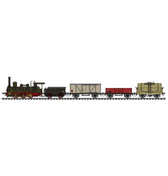 old freight steam train vector image