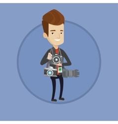 Paparazzi taking photo vector