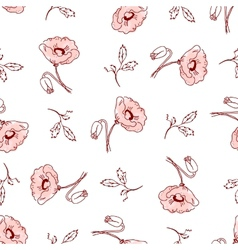 pattern of beautiful poppy flowers vector image