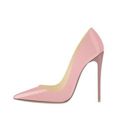 pink elegant shoe vector image