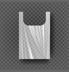 plastic bag with handles transparent vector image