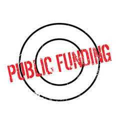 Public funding rubber stamp vector
