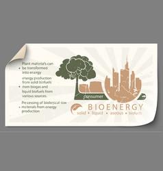 renewable energy from bioenergy paper infographics vector image