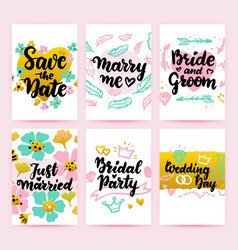 save date greeting posters vector image