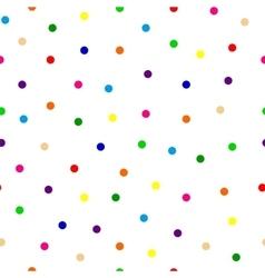 seamless background multicolored confetti round vector image