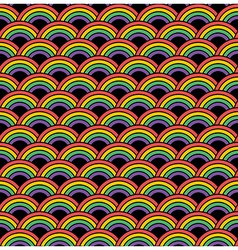seamless rainbow pattern vector image