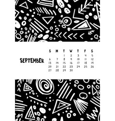 September colorful monthly calendar for 2020 year vector