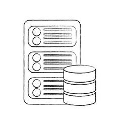 server web hosting icon image vector image