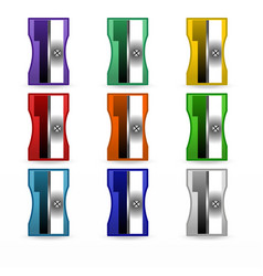 sharpener set stationery vector image