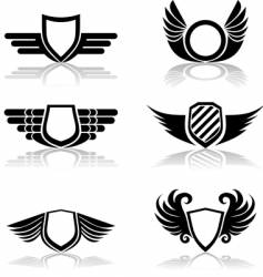 shields symbols vector image