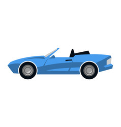 Stylized convertible sports car vector